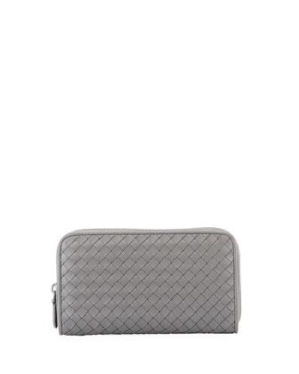 Continental Zip-Around Wallet, Gray