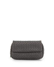 Woven Mini Crossbody Bag, Gray