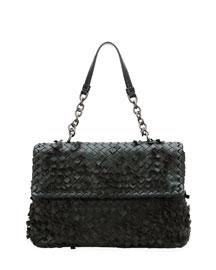 Olimpia Tobu Fringe Shoulder Bag, Black
