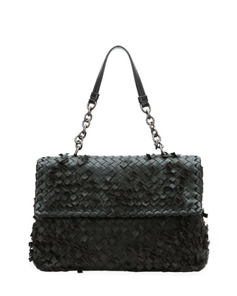 Olimpia Tobu Fringe Shoulder Bag, Black