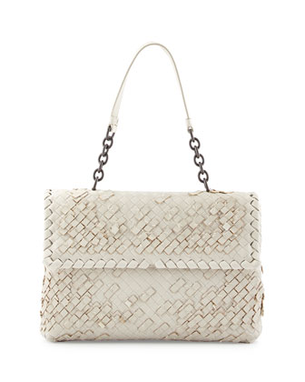 Olimpia Tobu Fringe Shoulder Bag, White
