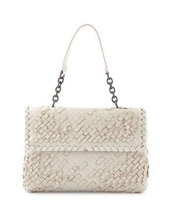 Olimpia Tobu Fringe Shoulder Bag, White