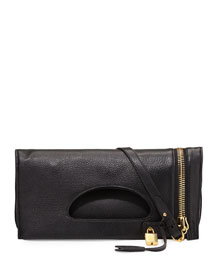 Alix Zip & Padlock Crossbody Bag, Black