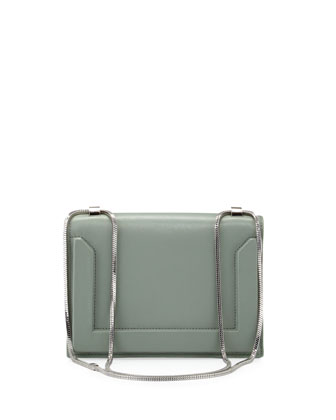 Soleil Mini Chain Shoulder Bag, Frost