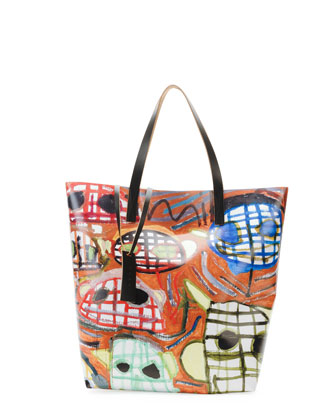 Face-Print PVC Shopping Bag