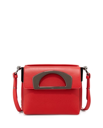 Mini Passage Leather Crossbody Bag, Red