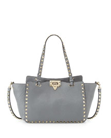 Rockstud Mini Tote Bag, Gray