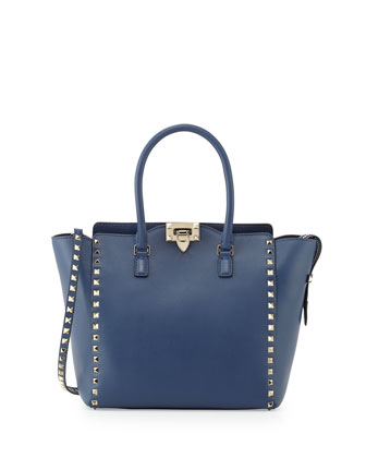 Rockstud Medium Shopper Bag, Blue