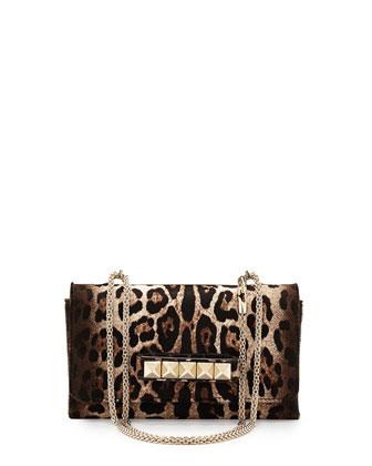 Va Va Voom Calf Hair Shoulder Bag, Leopard