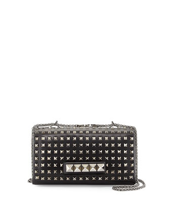 Va Va Voom Noir Studded Shoulder Bag, Black
