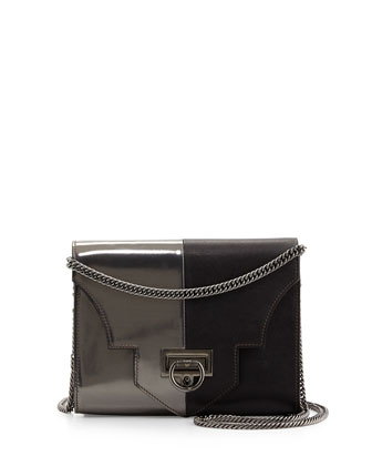 Rider Small Bicolor Bag, Black/Gunmetal