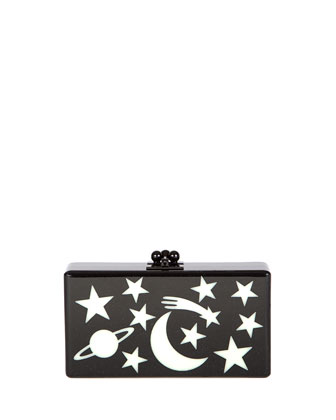 Jean Solar System Clutch Bag, Black