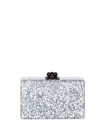Minnie Star Confetti Clutch Bag, Silver