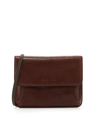 Stardust Metallic Crossbody Bag, Burgundy