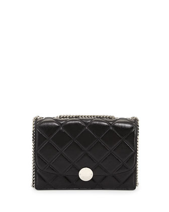 Quilted Trouble Shoulder Bag, Black