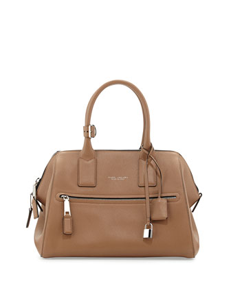 Incognito Medium Satchel Bag, Tan