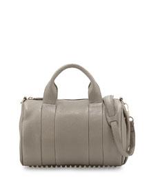 Rocco Stud-Bottom Satchel Bag, Oyster