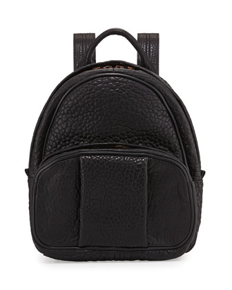 Dumbo Leather Backpack, Black/Rose