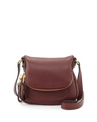 Jennifer Mini Calfskin Crossbody Bag, Red