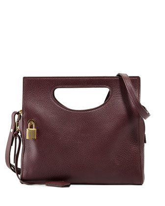 Alix Small Top-Handle Shoulder Bag, Bordeaux