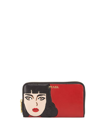 Pop Girl Napa Wallet, Red (Fuoco)