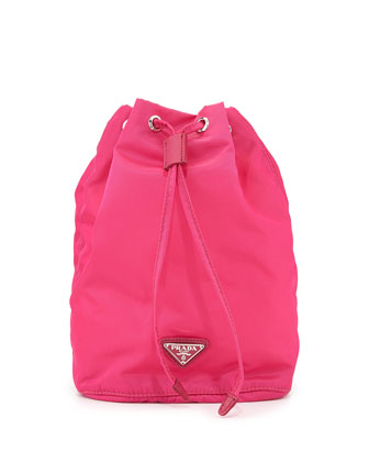 Vela Drawstring Bucket Bag, Pink (Fuxia)