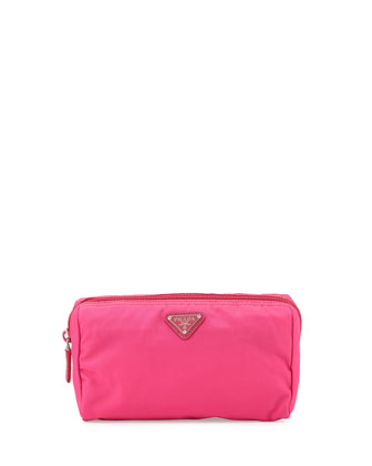 Vela Trapezoid Cosmetic Case, Pink (Fuxia)