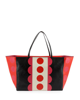 Carmen Medium Polka-Dot Tote Bag