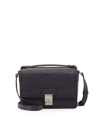 Pashli Mini Leather Messenger Bag, African Violet