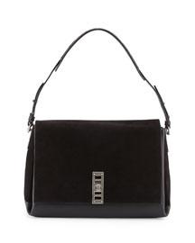 PS Elliot Suede/Calfskin Shoulder Bag, Black