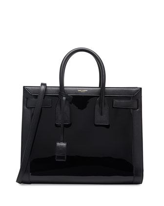Sac de Jour Small Patent Carryall Bag, Black