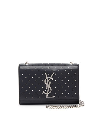 Monogramme Studded Crossbody Bag, Black