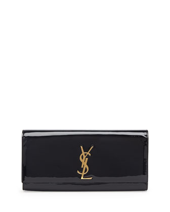 Monogramme Patent Clutch Bag, Black