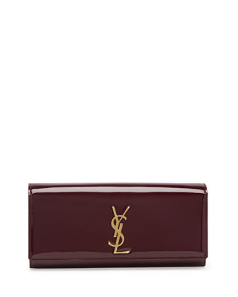 Monogramme Patent Clutch Bag, Bordeaux