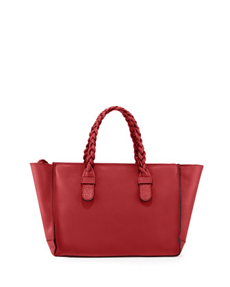 T.B.C. Braided Small Tote Bag, Red