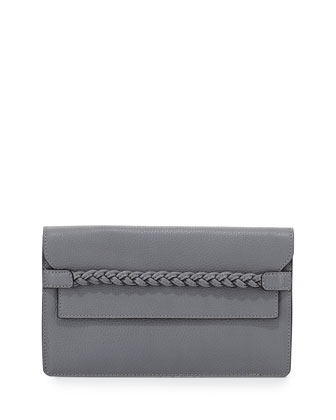 T.B.C. Braided Strap Clutch Bag, Gray