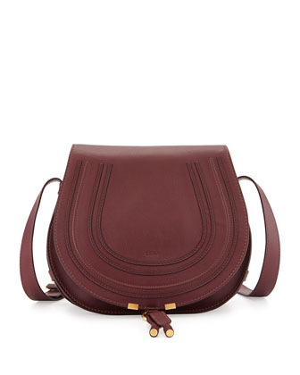 Marcie Horseshoe Crossbody Satchel Bag, Purple