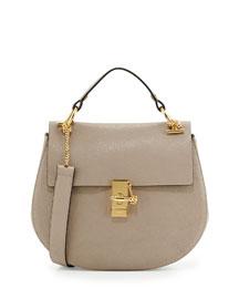 Drew Medium Chain Shoulder Bag, Gray