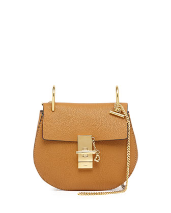 Drew Mini Chain Shoulder Bag, Tan