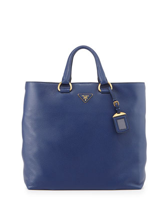 Daino Shopper Tote Bag, Dark Blue (Inchiostro)