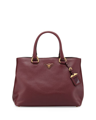 Daino Side-Snap Tote Bag, Bordeaux (Granato)