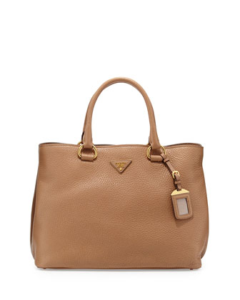 Daino Side-Snap Tote Bag, Tan (Sesamo)