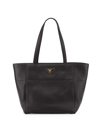 Daino Small Shopper Tote Bag, Black (Nero)