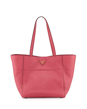 Daino Small Shopper Tote Bag, Pink (Peonia)