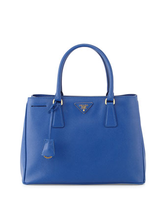 Saffiano Small Gardener's Tote Bag, Blue (Royal)