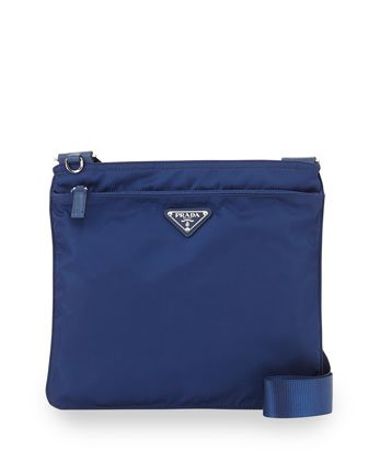 Vela Flat Crossbody Bag, Blue (Royal)