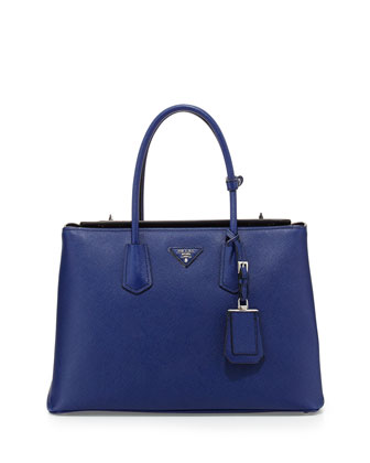 Saffiano Cuir Twin Bag, Dark Blue (Inchiostro)