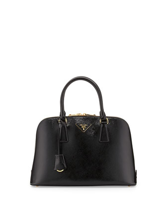 Medium Saffiano Promenade Bag, Black (Nero)