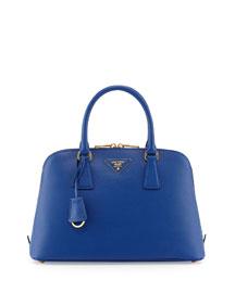 Medium Saffiano Vernice Pomenade Bag, Dark Blue (Inchiostro)