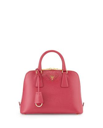 Small Saffiano Promenade Bag, Pink (Peonia)